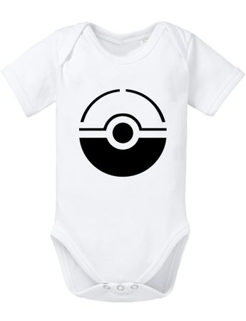 Anime Manga Cartoon Fun Nerd Pokeball Baby Strampler Body – Bild 7