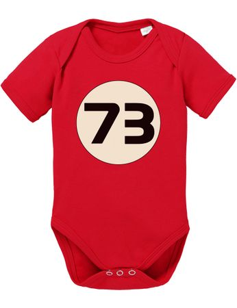 Big Sheldon 73 Bang Theory Nerd Baby Body – Bild 1