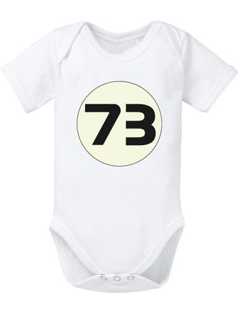 Big Sheldon 73 Bang Theory Nerd Baby Body – Bild 4