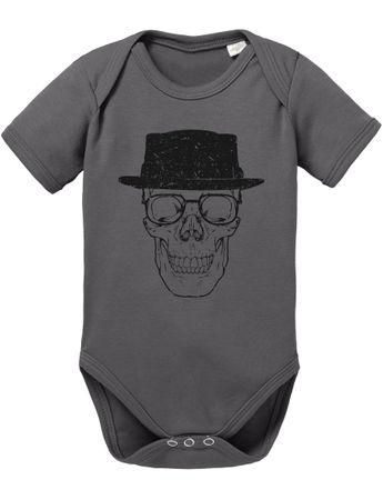 Bad Walter Skull Baby Strampler Body – Bild 4