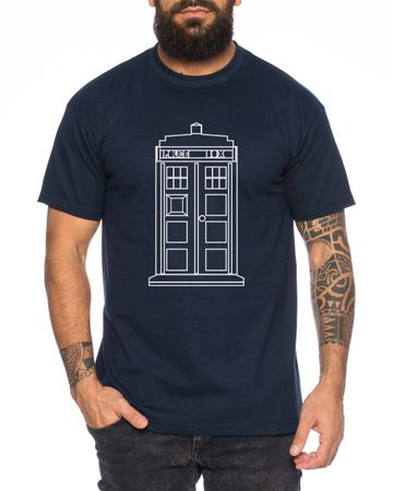 Who Space Box Men's T-Shirt dalek dr police doctor – Bild 5