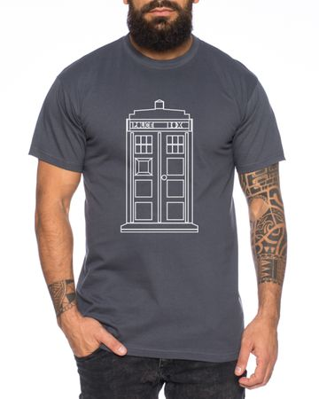 Who Space Box Men's T-Shirt dalek dr police doctor – Bild 6
