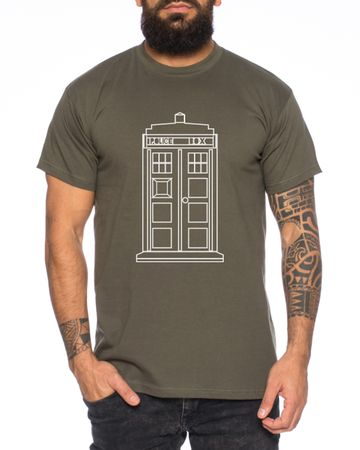 Who Space Box Men's T-Shirt dalek dr police doctor – Bild 1