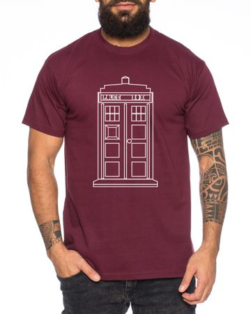 Who Space Box Men's T-Shirt dalek dr police doctor – Bild 3