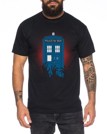 Doctor Zombie Line Who Box time police space dr tv Men's T-Shirt  – Bild 1