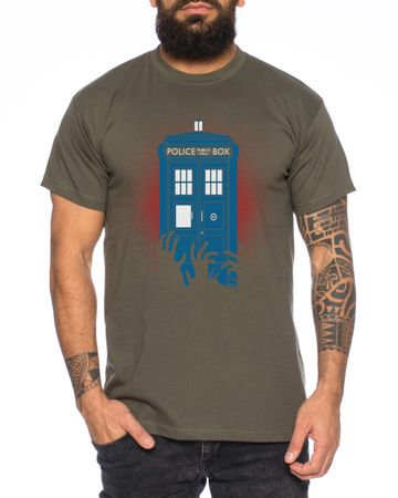 Doctor Zombie Line Who Box time police space dr tv Men's T-Shirt  – Bild 3