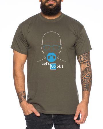 Lets cook Brick Bad T-Shirt Herren white meth walter crystal breaking tv Men's T-Shirt – Bild 2