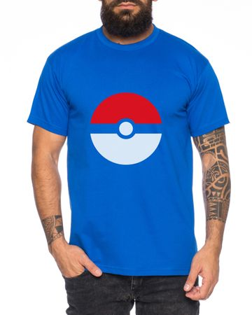Anime Manga Cartoon Fun Nerd Pokeball Men T-Shirt – Bild 5