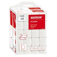 Falthandtuch Papierhandtuch Katrin 2lg weiß 24,4x23cm 4000 Blatt ZZ-Falz