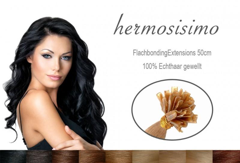 25 gewellte Strähnen Echthaar Haarverlängerung FB – Bild 1