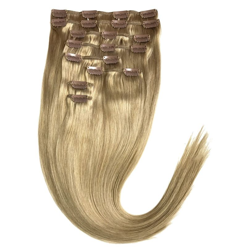 Echthaar Clip In Extensions Set 100Gramm 8tlg