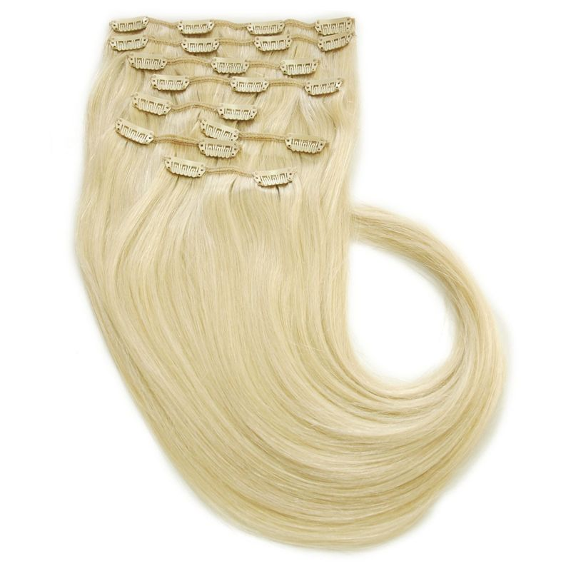 Echthaar Clip In Extensions Set 110Gramm 8tlg