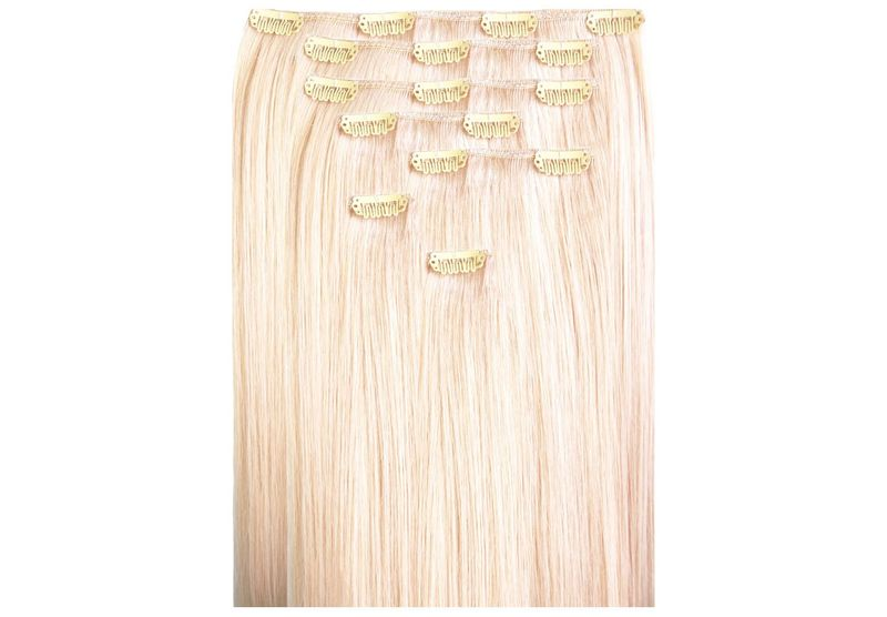 Echthaar Clip In Extensions Set 80Gramm 7tlg – Bild 2