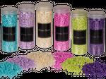 Deko-Sand, grobkörnig, 6-farbig sortiert, ca. 400 g in PVC-Dose