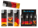 Jumbo-Elektro-Feuerzeug, Deutschlandflagge, ca. 11 x 4 cm, 4-fach sortiert, 20 Stück im Display