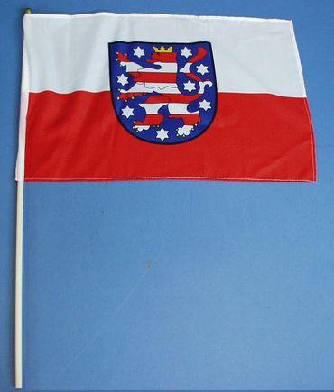 B. Stab Flagge Thüringen