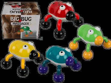 Massagekäfer, Big Bug, ca. 12 x 10 cm, 4-farbig sortiert, für 2 Mignon Batterien (AA)