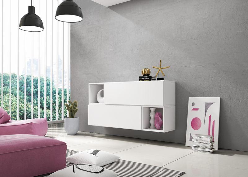 Sideboard Lowboard Tv Board Kommode Wohnwand Cube Kombination 150cm