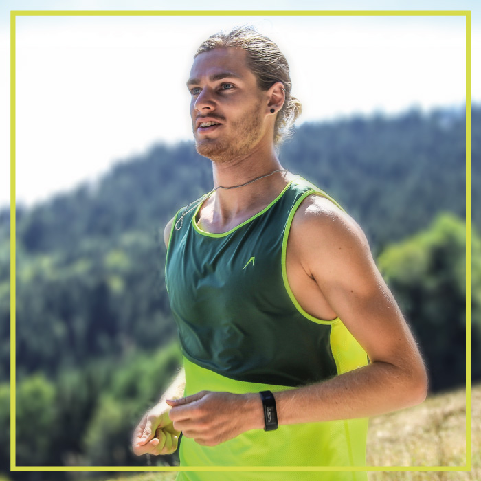 Men's running shirt in green | Runner in the Black Forest
