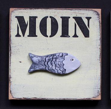 Moin Schilder  12 x 12 cm – Bild 1
