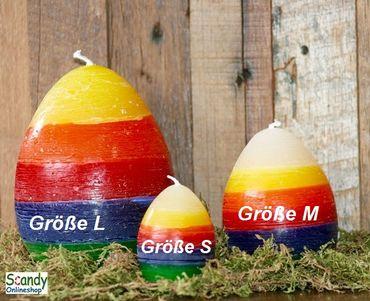 Ostereier Kerze M  verschiedene Designs – Bild 8