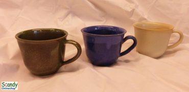 Milchkaffee Tasse aus Keramik  – Bild 1