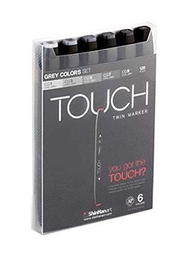 Touch Twin Marker 6er Set Grey Colors