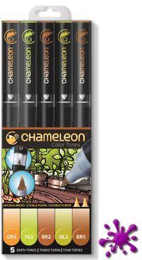 *SOMMERAKTION* Chameleon Pens 5er Set - Erdfarben  – Bild 1