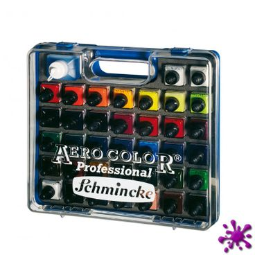 Schmincke AERO COLOR® Kunststoff-Koffer 37 x 28ml + AERO CLEAN RAPID