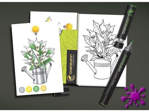 Chameleon Color Cards zum selbst gestalten - Blumen Motive – Bild 2