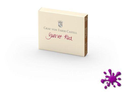 Graf von Faber Castell Tintenpatronen 6 Stück - Garnet Red