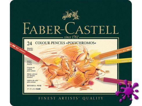 Faber-Castell Polychromos Farbstifte 24er Metalletui - 110024