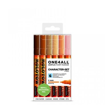 MOLOTOW ONE4ALL 127HS Marker 6er Character-Set