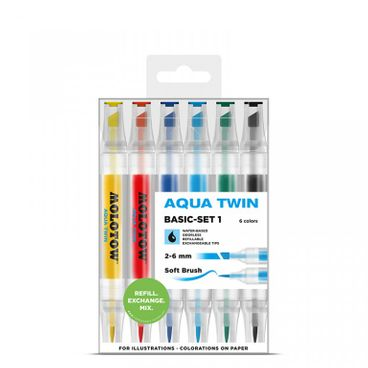 MOLOTOW AQUA TWIN Marker 6er Basic-Set 1
