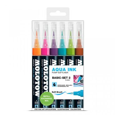 MOLOTOW GRAFX Aqua Ink Marker 6er Basic-Set 2