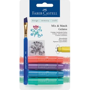 Faber Castell Mix & Match Gelatos wasservermalbare Kreiden  Metallic  4er Set – Bild 1