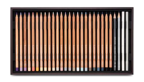 Caran d´Ache LUMINACE 6901 - 76 Künstlerfarbstifte im Holzkoffer  – Bild 5