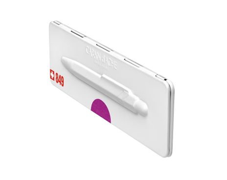 Kugelschreiber 849 Metall-X Violett mit Etui – Bild 4