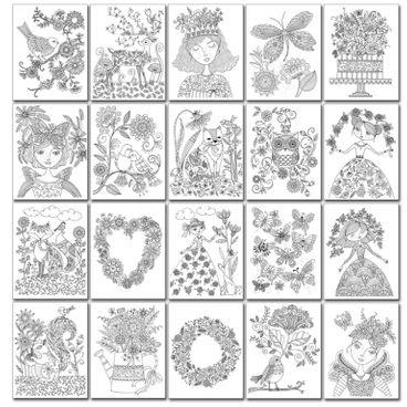 Chameleon Malbuch 'Loris Art Garden Coloring Book' – Bild 3