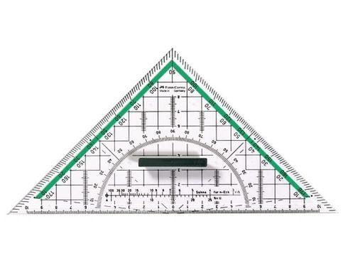 Faber Castell BK 1 Geo-Dreieck groß mit Griff – Bild 1