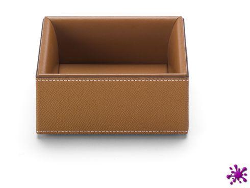 Büroklammernbox Graf von Faber Castell Pure Elegance, Leder, cognac