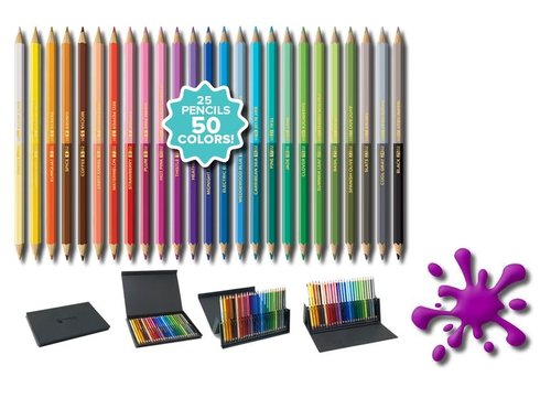 *SOMMERAKTION* Chameleon Künstlerfarbstifte-Set / 25 Farbstifte - 50 Farben  – Bild 2