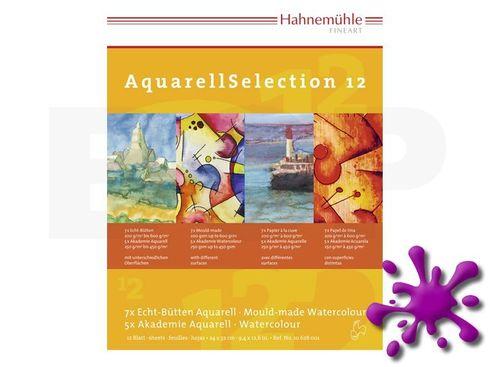 Hahnemühle AquarellSelection 12 verschiedene Papiere 24x32cm
