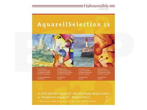 Hahnemühle AquarellSelection 12 verschiedene Papiere 24x32cm  – Bild 2
