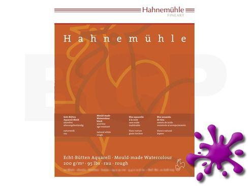 Hahnemühle Echt-Bütten Aquarellblock 200g/m², rau, 12x17cm, 20 Blatt – Bild 1