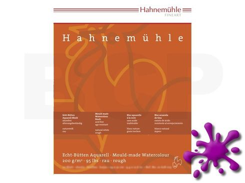 Aquarellblock Hahnemühle rau 200g 24x32cm 20 Blatt – Bild 1
