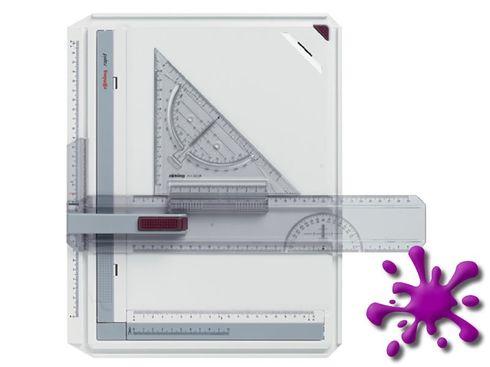 Rotring Zeichenplatte Rapid A4 mit Parallelzeichenschiene – Bild 1
