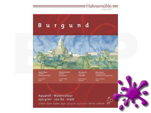 Hahnemühle Aquarellblock Burgund matt 250g, 20 Blatt, 17x24cm