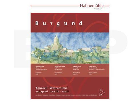 Hahnemühle Aquarellblock Burgund matt 250g, 20 Blatt, 17x24cm  – Bild 2