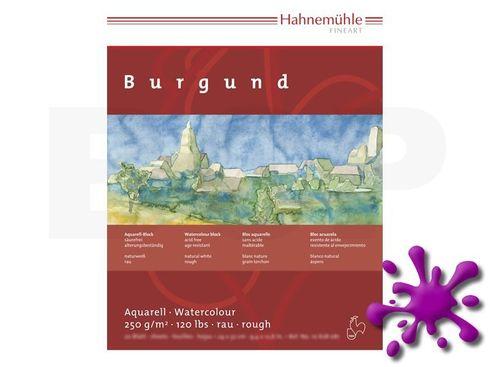 Hahnemühle Aquarellblock Burgund rau 250g, 20 Blatt, 17x24cm – Bild 1